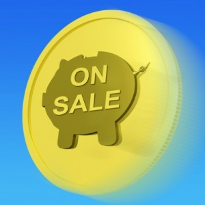 On Sale Gold Coin Means Specials Promos And Cheap Products by Stuart Miles http://www.freedigitalphotos.net/