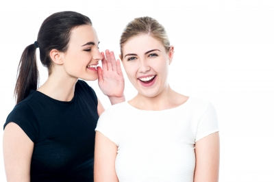 Young Girls Gossiping And Having Fun by stockimages